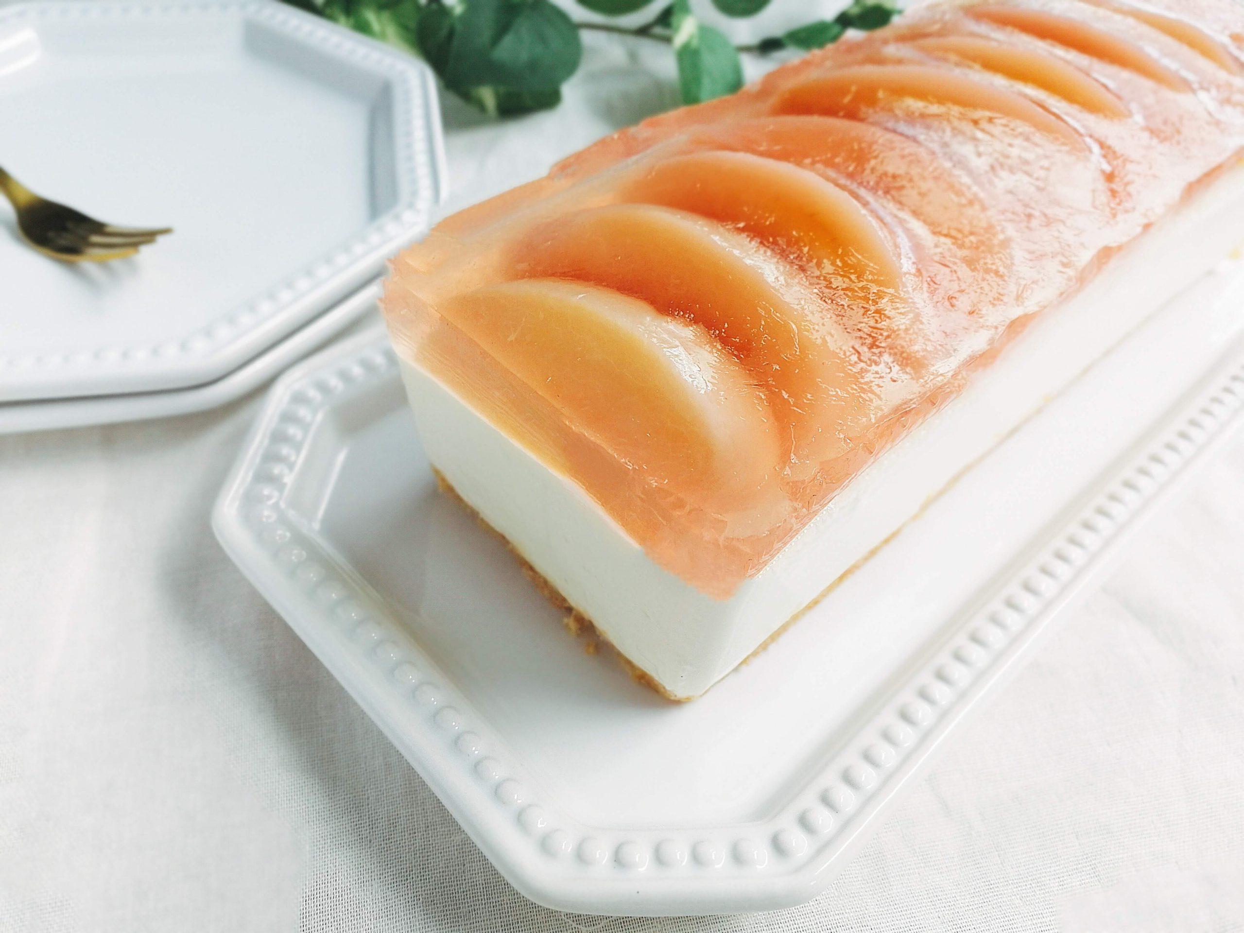 桃のレアチーズケーキ パウンド型 レシピ
