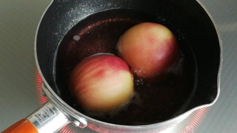 桃のコンポートレシピ 簡単 レモン 変色